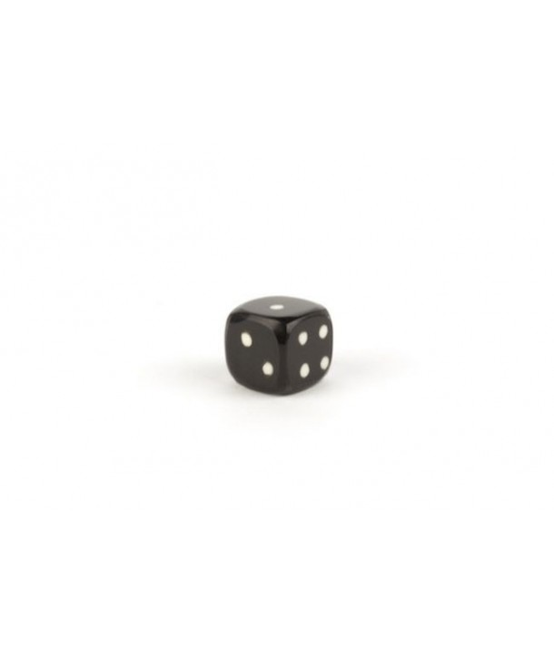 Set of 6 small dice in plain black horn