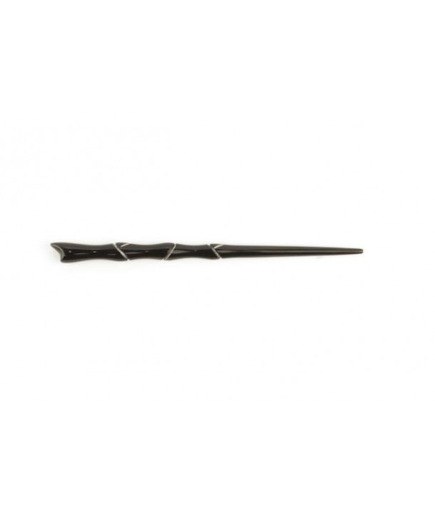 Pique àcheveux bambou en corne noire unie
