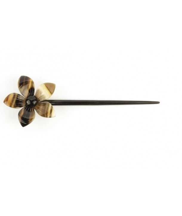 Flower hairpin in blond horn