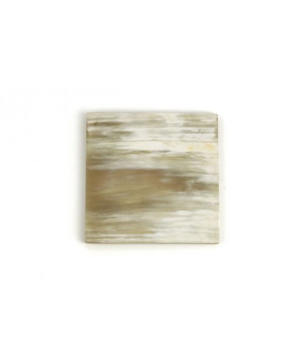 Set of 6 square coasters in blond horn