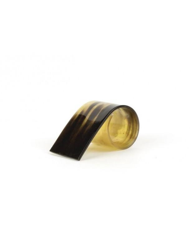 Set de 6 ronds de serviette en corne noire marbrée