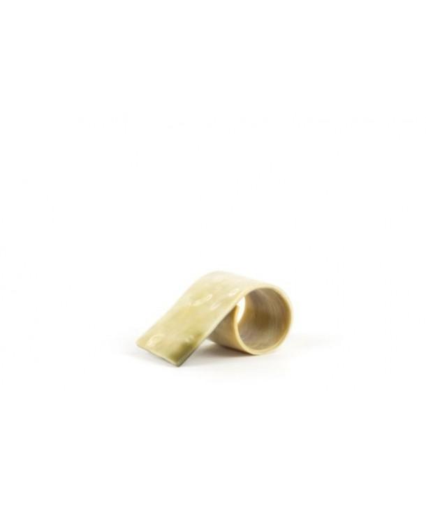 Set de 6 ronds de serviette en corne blonde marbrée