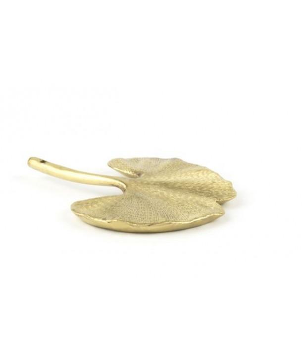 Gingko incense holder in copper brass
