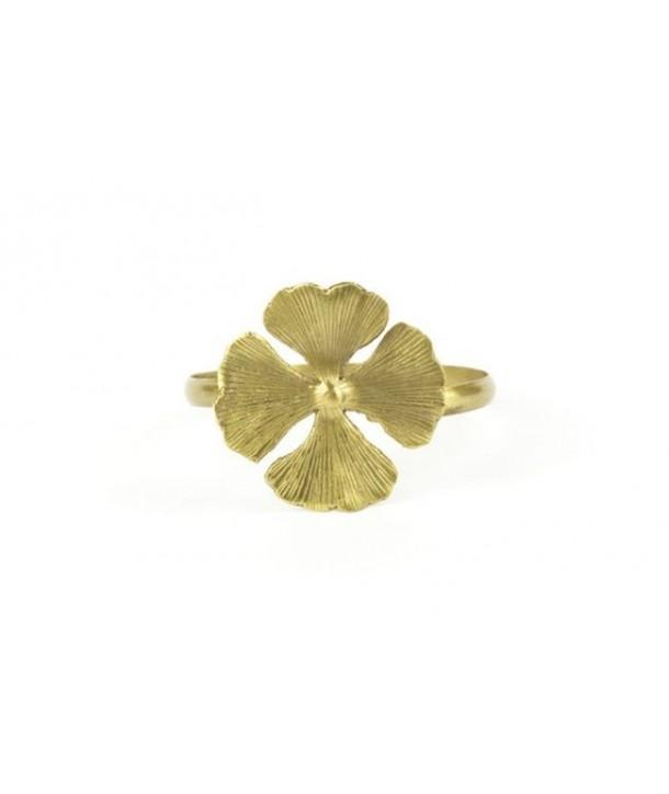 4 gingko bracelet in coppery brass