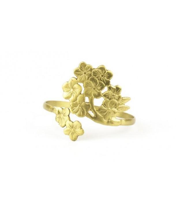 Cherrytree leaf bracelet in coppery brass