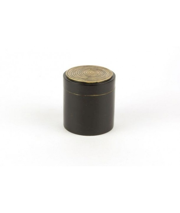 Bamboo pattern pill box in stone with black background