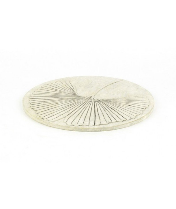 Gingko tablemat in natural stone