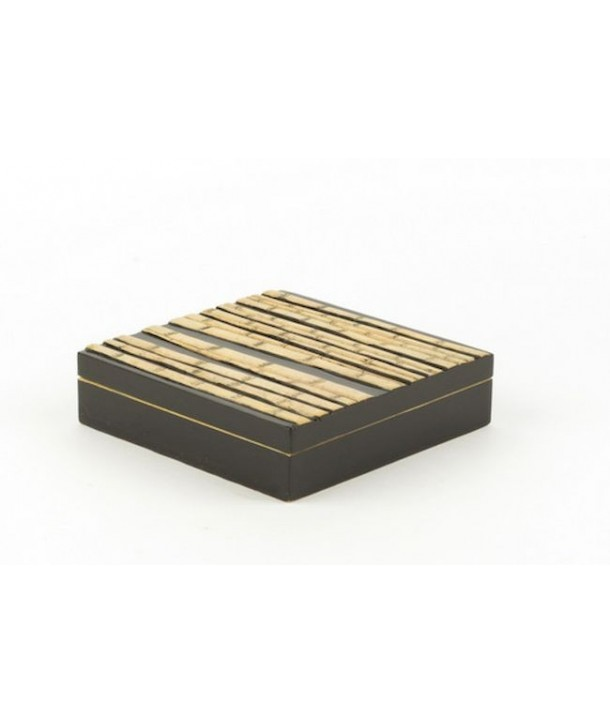 Bamboo forest pattern big cubic box in stone with background black