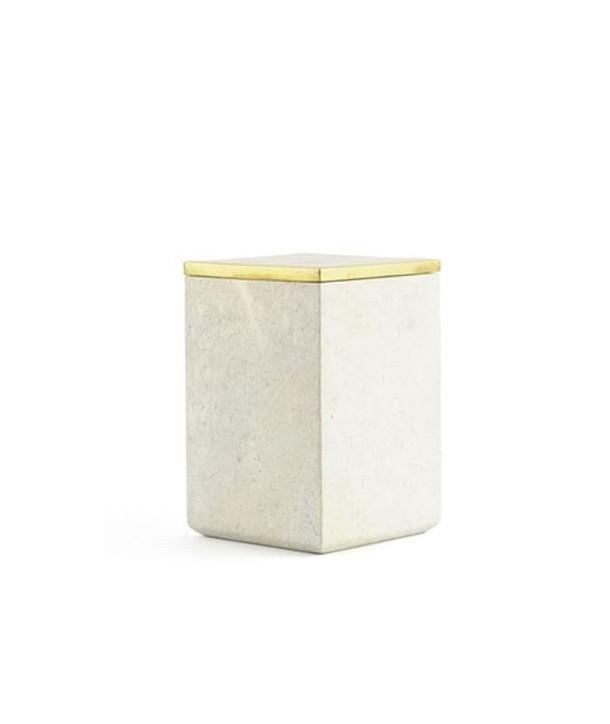 Grande boîte carrée couvercle serti laiton cuivré