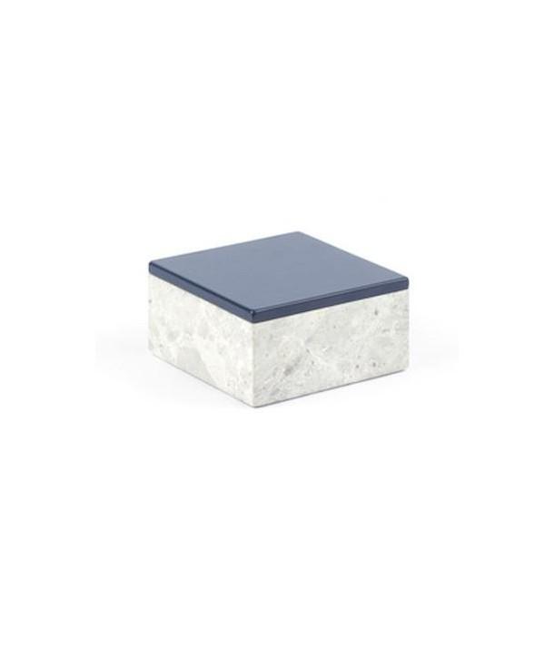 Boîte carrée de taille moyenne avec couvercle laqué