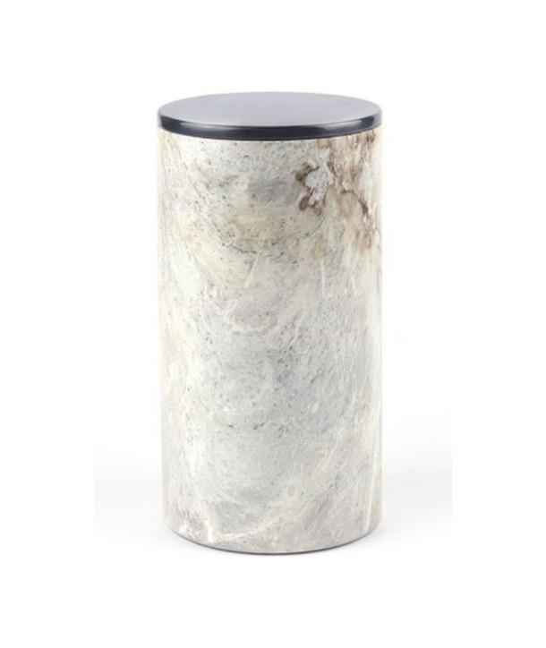 Grand vase rond étroit avec couvercle laqué