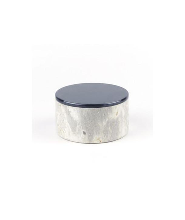 Moyenne boîte ronde large couvercle laqué