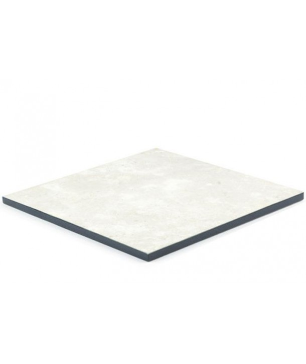 Lacquered edges square tablemat in stone