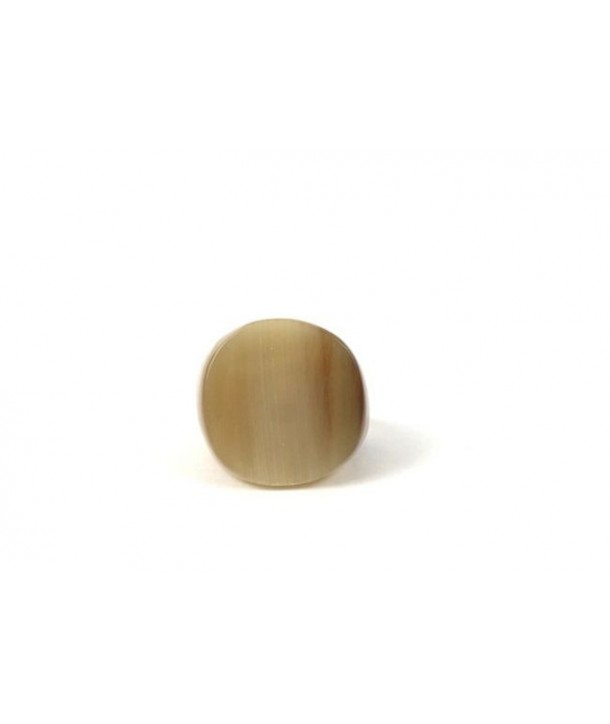 Round ring in marble horn in Size S