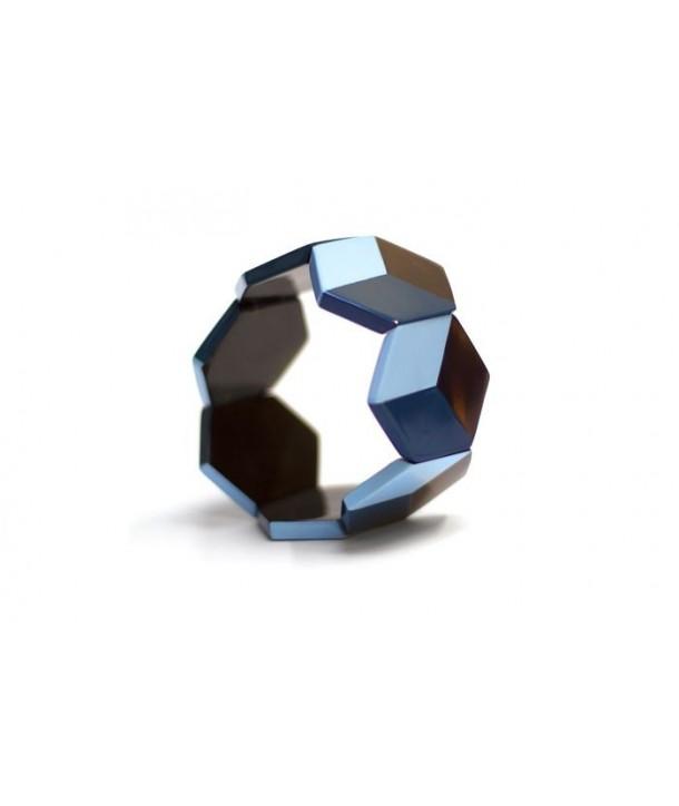 Bracelet hexagones laqués