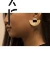 Boucles d'oreilles Laiton pierre
