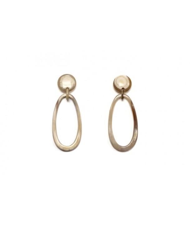 Oval earrings in hoof