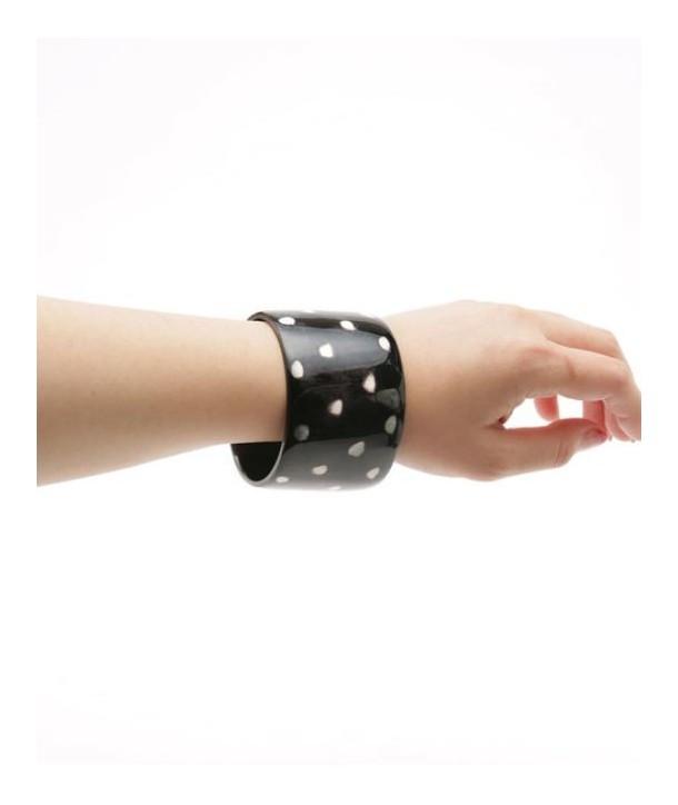 Broad tortoiseshell-style bracelet