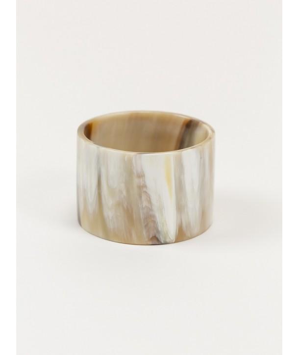 Bracelet large en corne blonde