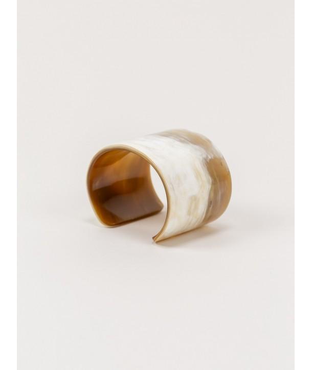 Marbled blond horn cuff