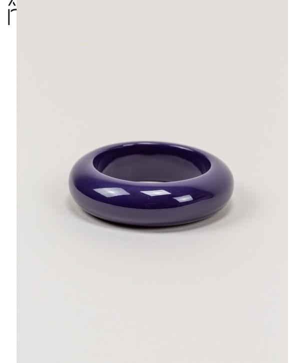 Bracelet rond bois laqué taille S violette