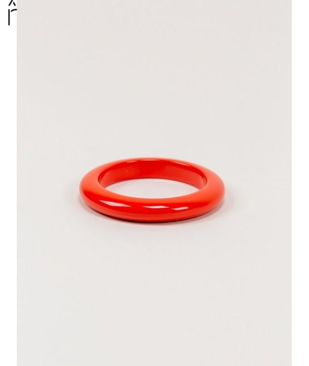 Bracelet rond bois laqué taille XS orange