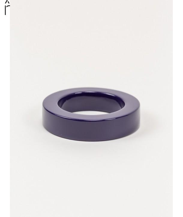 Bracelet rond bord droit bois laqué taille M violette