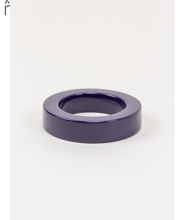 Round purple lacquered bracelet with straight edge size M