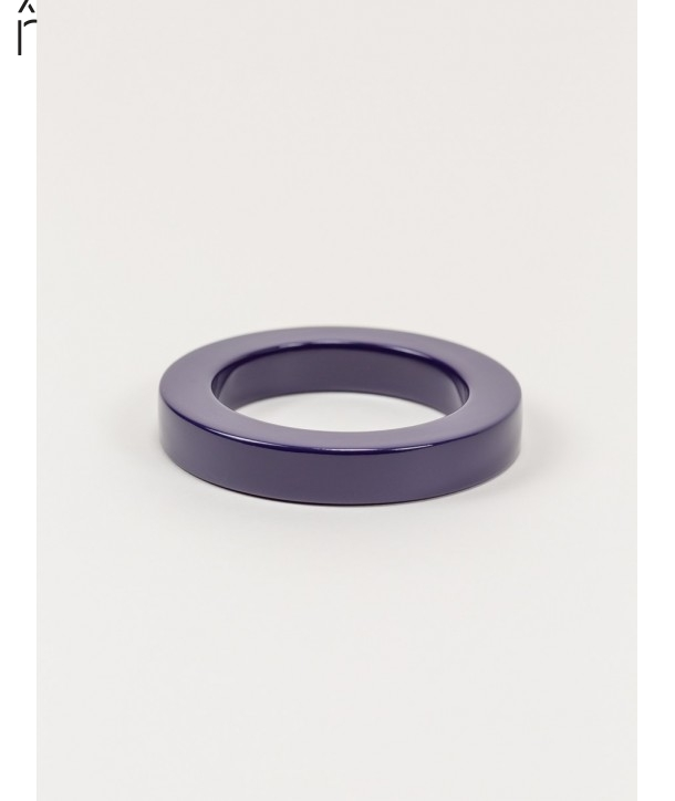 Round purple lacquered bracelet with straight edge size S