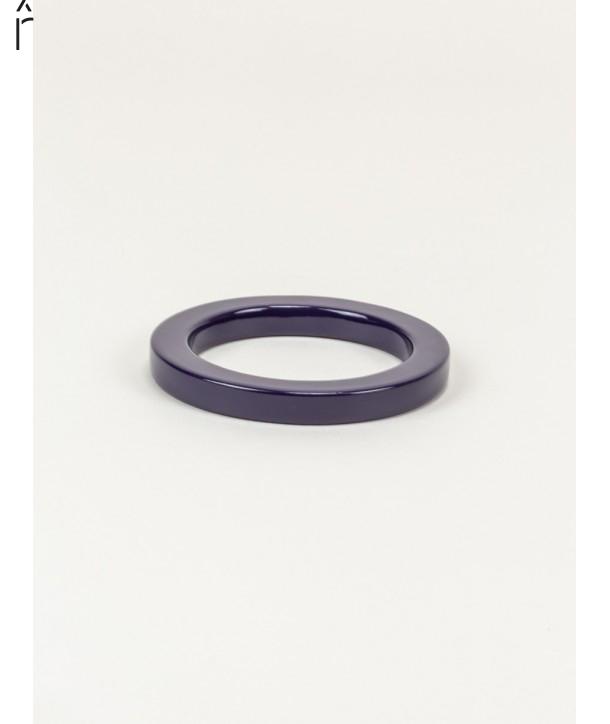 Bracelet rond bord droit bois laqué taille XS violette