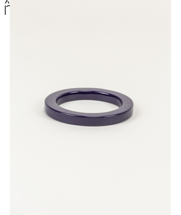 Round purple lacquered bracelet with straight edge size XS