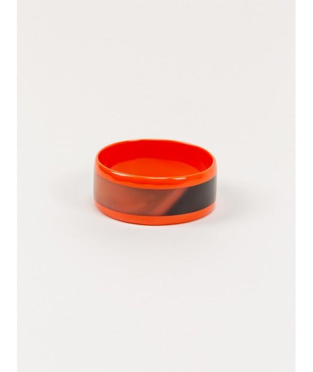 Orange inner and edges lacquered bracelet