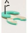"Onde"" earrings in blond horn and mint lacquer"""