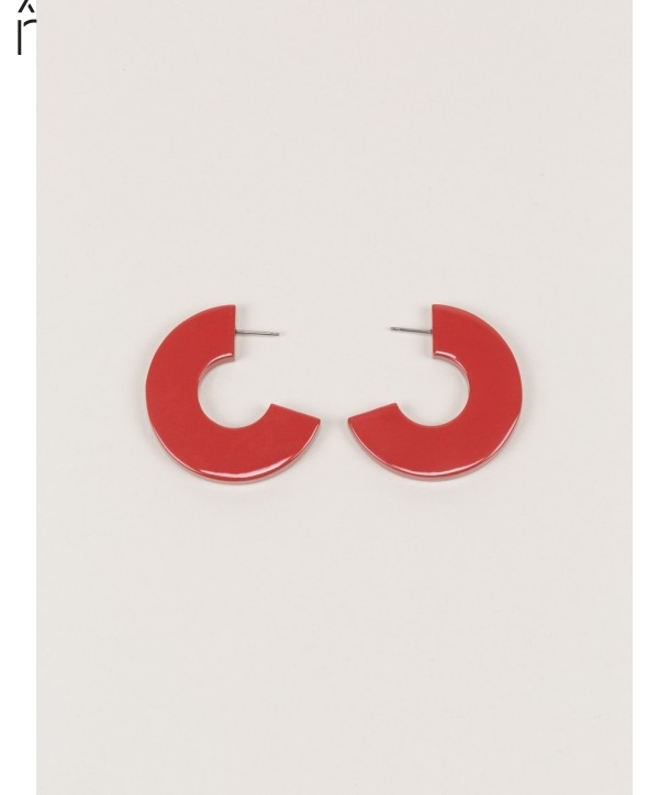 Onde earrings in horn and brick lacquer