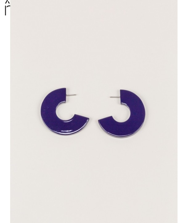 """Onde"""" earrings in blond horn and purple lacquer"""""""