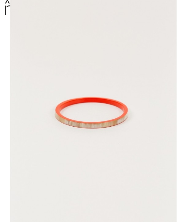 "Bandeau"" bracelet in blond horn and orange lacquer"""