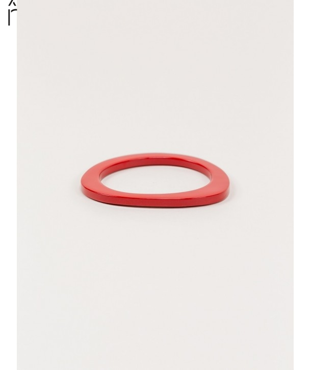 Bracelet in blond horn and red lacquer