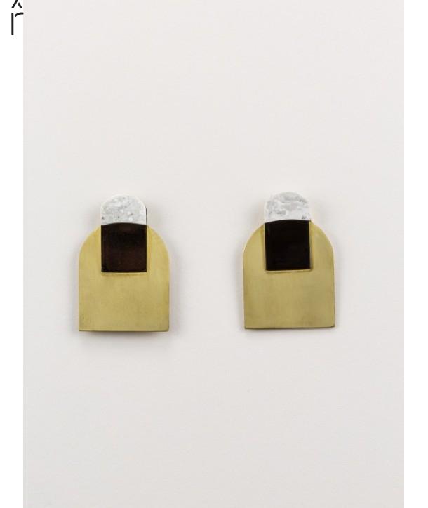 Stone & Brass Arche earrings