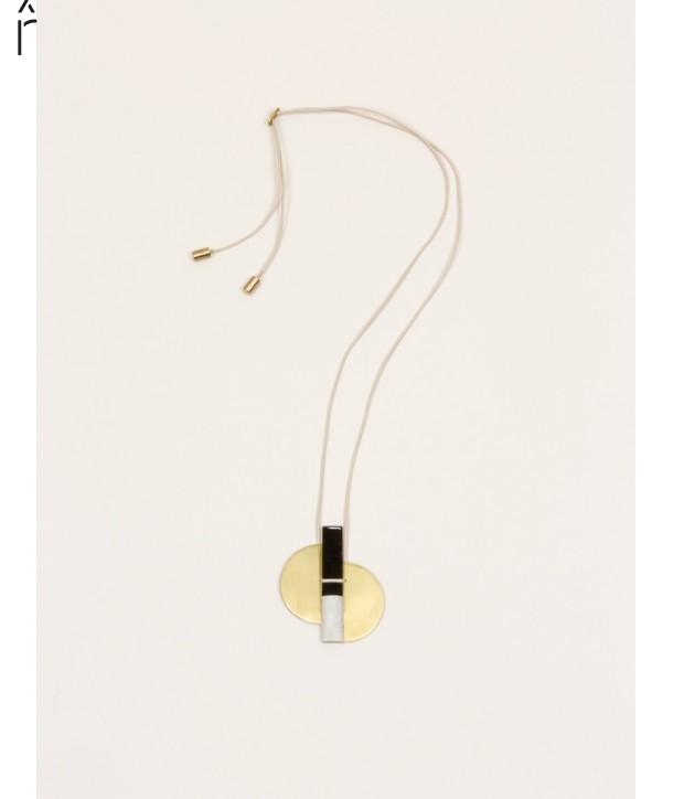 Stone & brass Ailes pendant