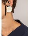 """Boucles d'oreilles """"Rayon"""" en corne blonde"""