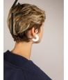 """Boucles d'oreilles """"Onde"""" en corne blonde"""