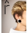 Terrasse earrings in blond and black horn