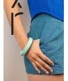 Bracelet rond bord droit bois laqué taille XS vert menthe