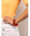 Bracelet intérieur et bords laqués orange