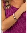Bracelet Bandeau fin en corne blonde et laque violet