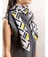 Square silk scarf 90x90 hand-rolled sewing