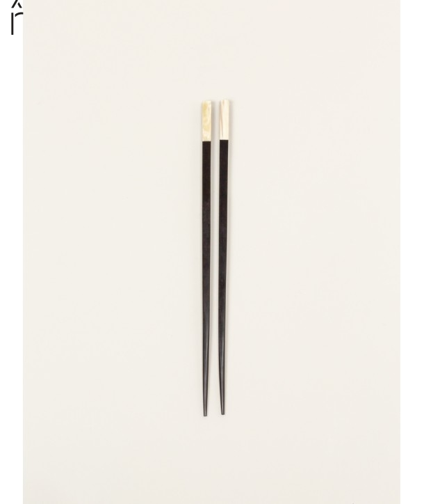 Set of 6 pairs of chopsticks in ebony and bone