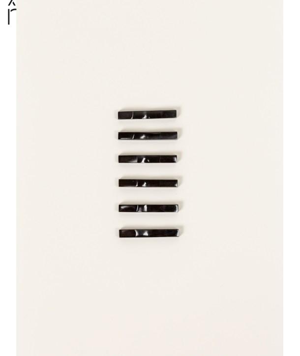 Set de 6 portes-baguettes en corne noire de buffle