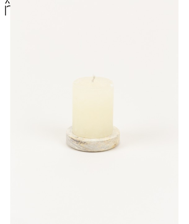 Small candle holder in natural stone