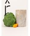 Vase moyen cylindrique étroit en pierre sans couvercle